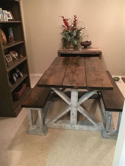 tables with benches for kitchens best 25 farmhouse tabletop ideas on wood