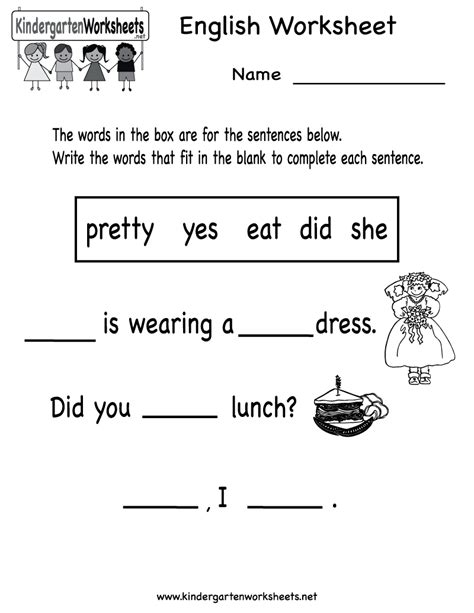 printable worksheets for kindergarten esl 16 best images of free printable esl worksheets for