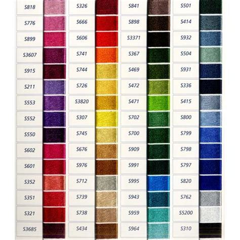 thread colors dmc satin color chart list of colors color threads dmc