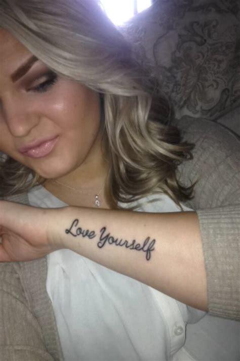 love yourself tattoos yourself tattoos