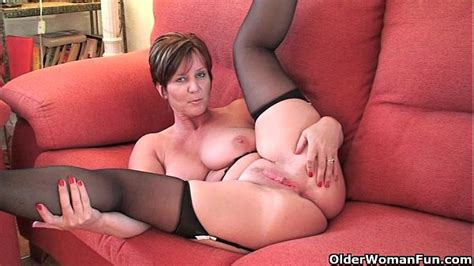 British Granny Joy With Big Tits Shows Her Fuckable Body