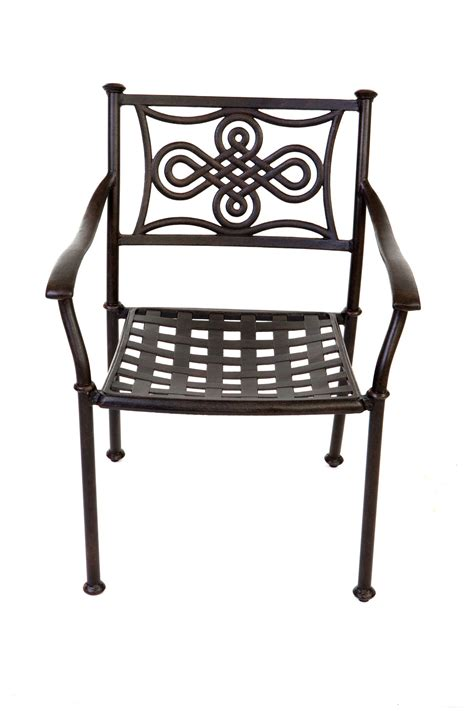 Metal Patio Chair Manor Large Oval Set With Knot Chairs Antique Bronze With Seat Back Cushions Regatta Garden