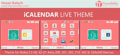 live themes for nokia x2 00 icalendar live theme for nokia c3 00 x2 01 asha 200 201