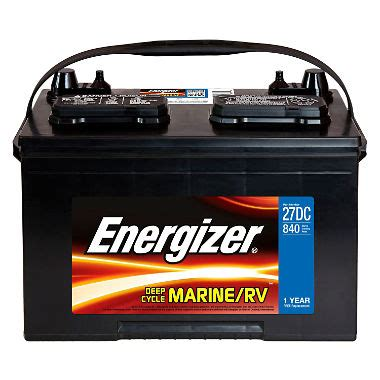 boat starting battery energizer deep cycle marine battery group size 27dc
