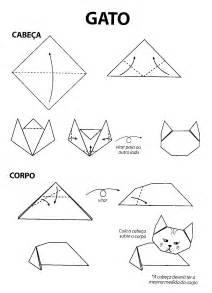 Origami E - ba 250 da web dobradura de animais gatos