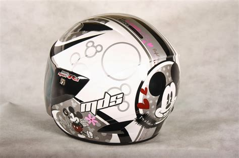 Helm Mds Classic mds sport r3 mickey classic 01 white silver helm inside