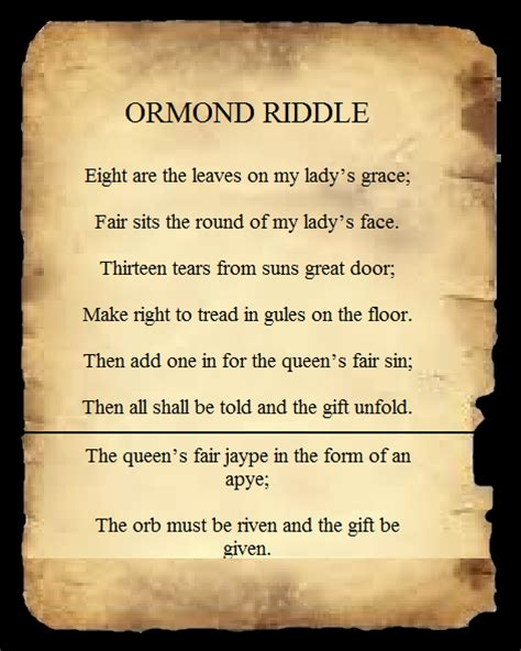 the ormond riddle conspiracy 365 wiki