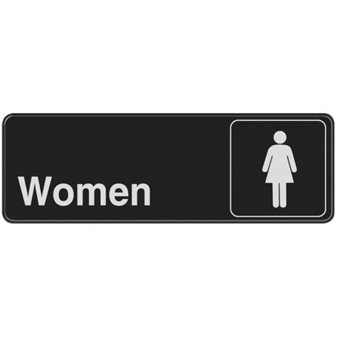 bathroom signs for the home the hillman group 3 in x 9 in plastic women s restroom