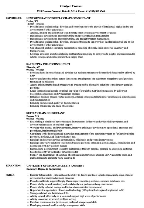 exles of a functional resume 2 supply chain management consultant description best