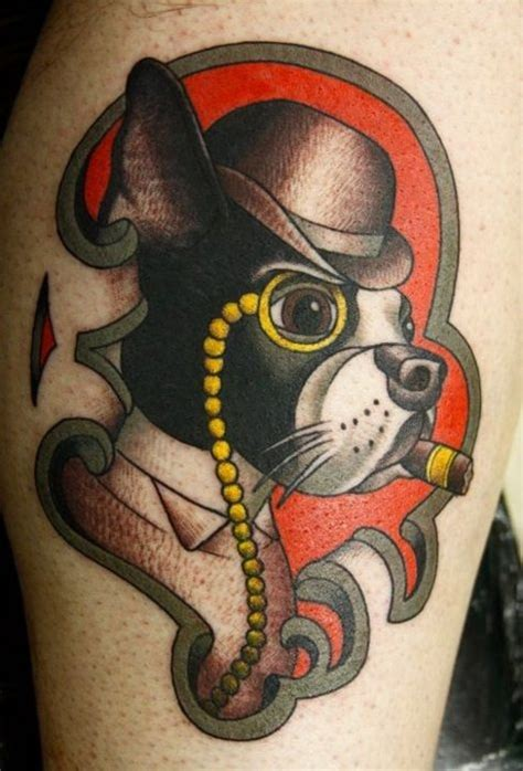 boston terrier tattoo ideas pinterest