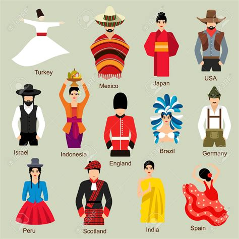 Traditional Costume traditional costume clipart pencil and in color