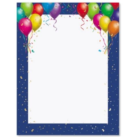 balloon border template free free borders for publisher studio design gallery