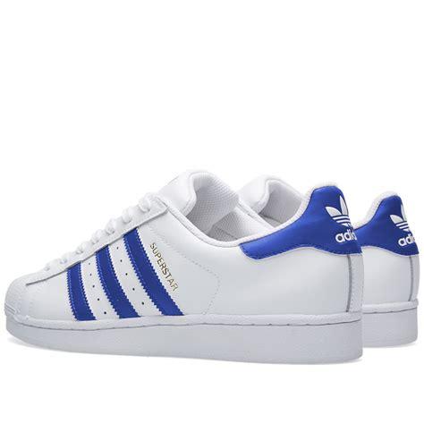 adidas superstar foundation white blue  sole supplier