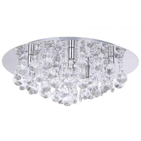 crystal bathroom ceiling light montego flush ceiling light crystal effect 9 light chrome