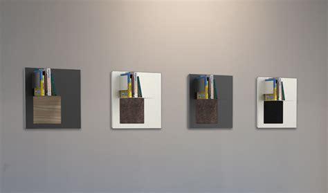librerie in alluminio libreria riquadro l a parete in alluminio con inserto in legno