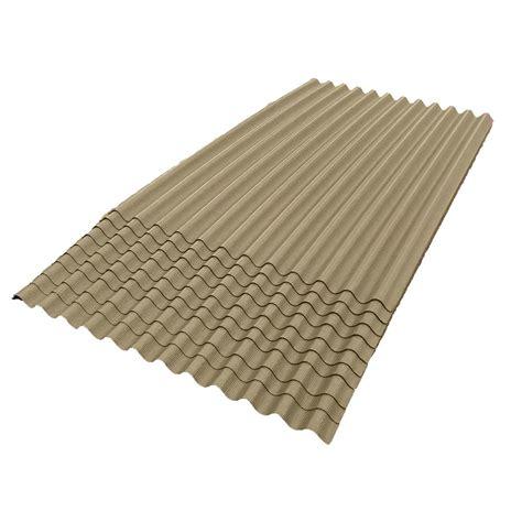 ondura 6 ft 7 in x 4 ft asphalt corrugated roof panel