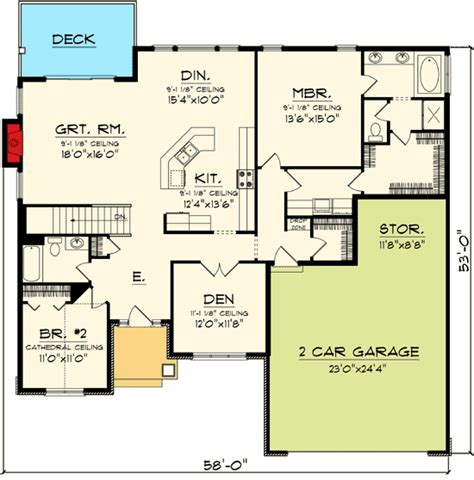 ranch house floor plans open plan architectural designs