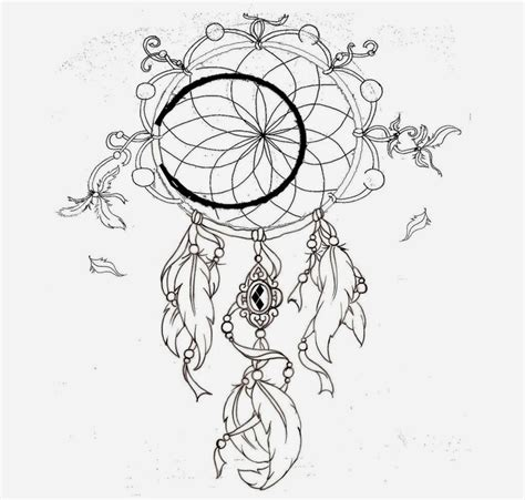 dreamcatcher tattoo stencil free tiger dream catcher coloring pages