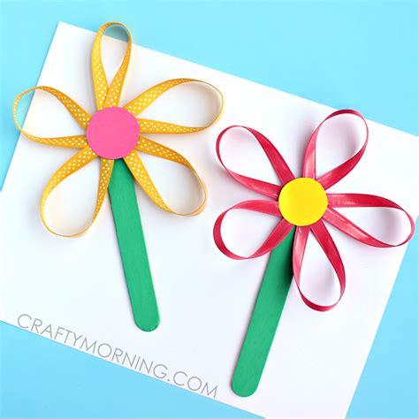 ribbon crafts make flowers on a stick using ribbon crafty morning