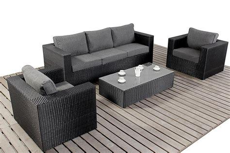 black wicker sofa prestige black rattan large rattan sofa set homegenies