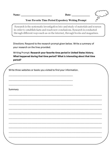 Informative Essay Prompts by Writing Prompts Worksheets Informative And Expository Writing Prompts Worksheets