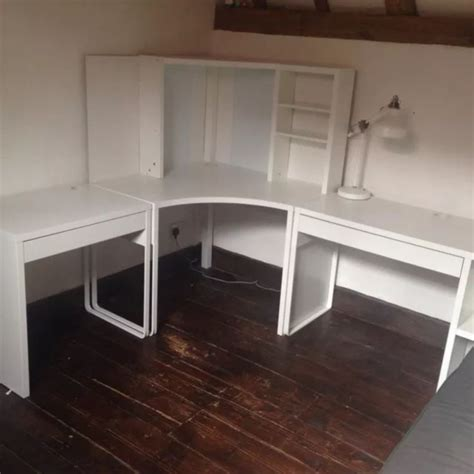 Corner Desk For Room by Micke Corner Station And Two Desks Excellent