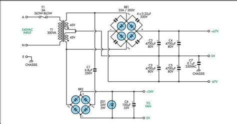mosfet diagram 200w mosfet power lifier electronic circuit