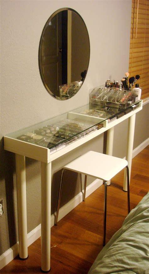 Bedroom Vanity At Ikea Makeup Vanity For Small Spaces Ikea Hackers Ikea Hackers