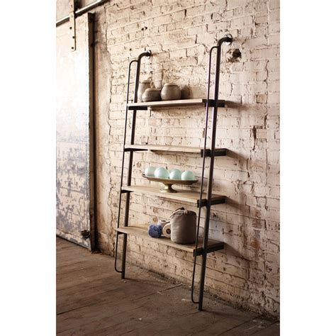 94 black leaning shelf designed to emulate black