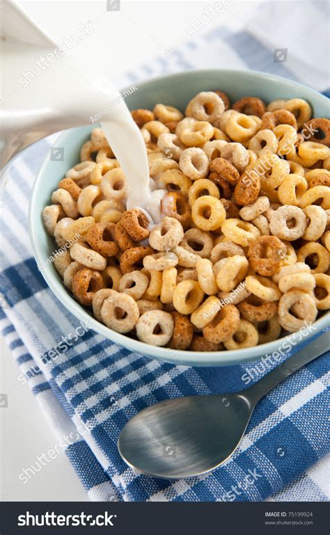 whole grains in cheerios bowl whole grain cheerios cereal stock photo 75199924