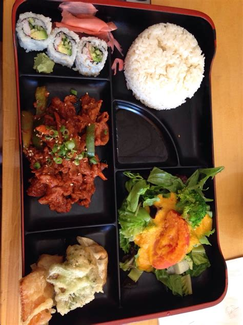 yoshi japanese cuisine spicy pork bento box lunch special yelp