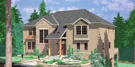 hillside home plans with basement sloping lot house plans hillside house plans for sloping lots numberedtype