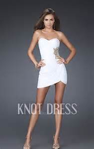 white or black short sweetheart ruching overall with side
