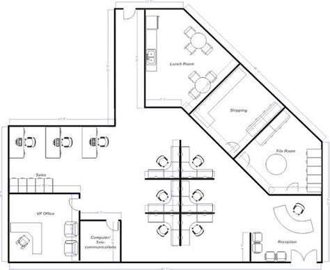 cubicle floor plan open office layout pinteres