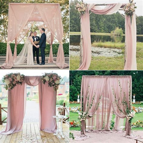 Wedding Backdrop Buy by Aliexpress Buy 5m Pink Chiffon Fabric For