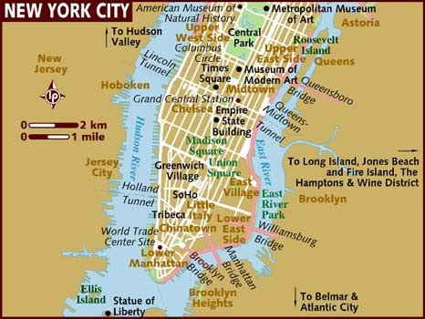 Where Is New York City On A Map by 7ageography Nyc S Map