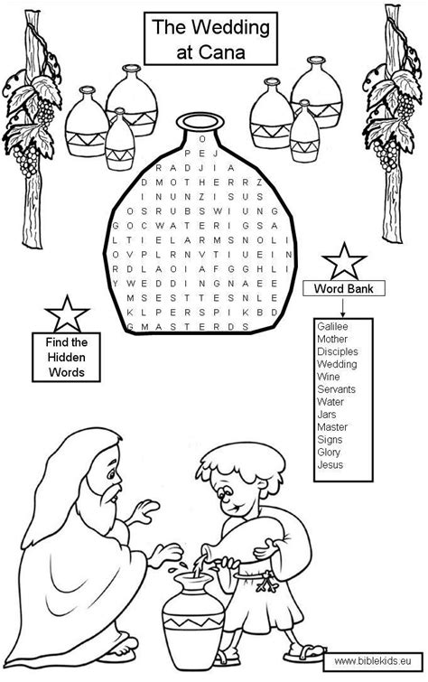 Wedding At Cana Activity Sheets 76 best images about wedding at cana on