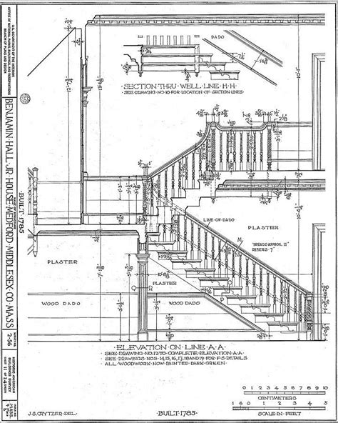 Plan Section Drawing by Typical Residential Stair Plan Drawing Search