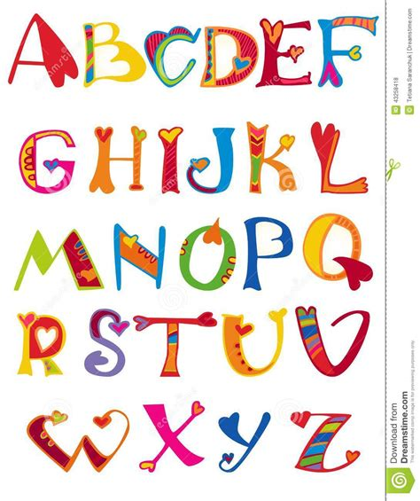 cute alphabet pattern alphabet design in a colorful style stock vector