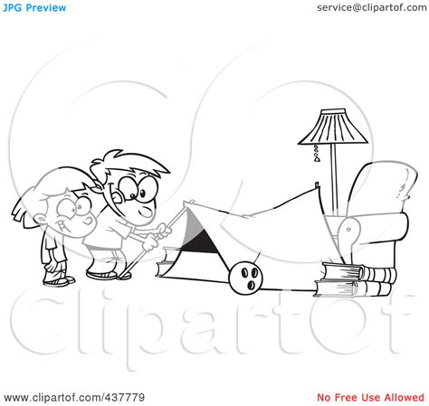 cing tent black and white clipart clipart kid