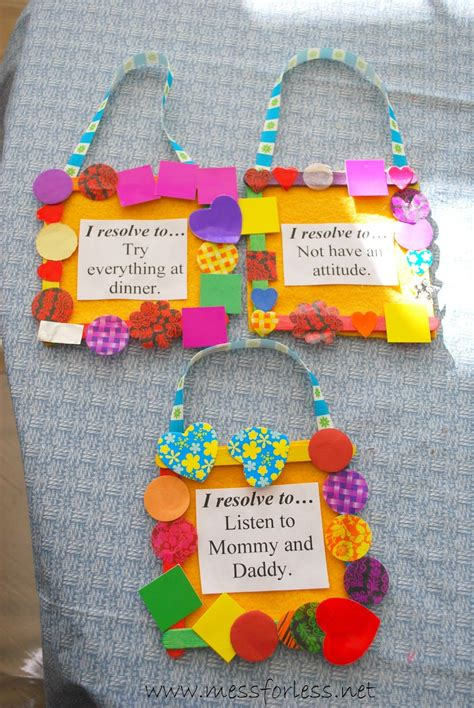 new year craft new year s resolutions for