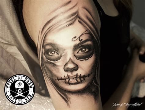Tatto A de realismo en barcelona steel of doom