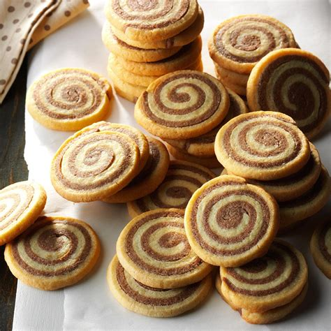 pinwheel recipes basic chocolate pinwheel cookies recipe taste of home