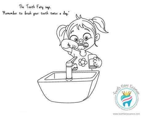 girl dentist coloring page tooth fairy activities for kids tooth fairy express