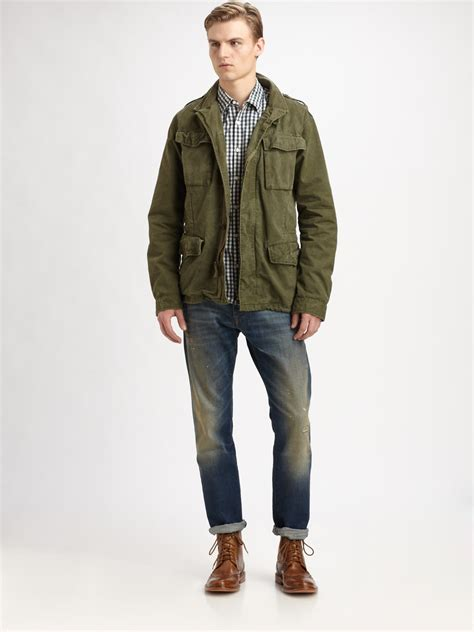 Jaket Bomber Army As Roma lyst scotch soda jacket in green for