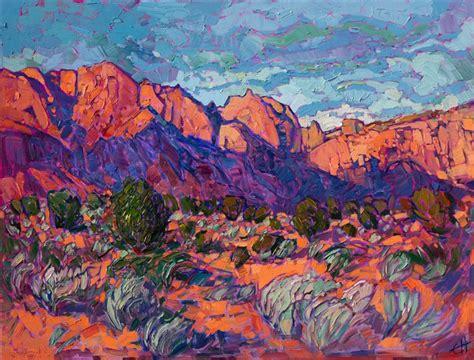 Landscape Paintings Utah Kayenta Sands Contemporary Impressionism Landscape