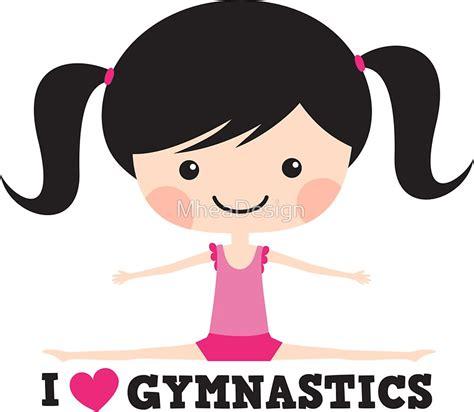 Small Flat Design by Quot I Love Gymnastics Cute Cartoon Doing The Splits