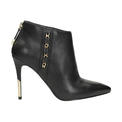 guess lona leather ankle boot aversa shoes s r l