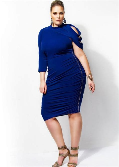Ruched Dresses by Ruched Dress Plus Size Pluslook Eu Collection
