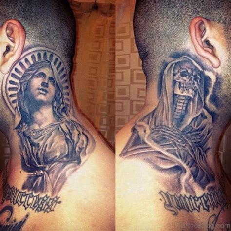 religious tattoo on neck 11 spiritual virgin mary neck tattoos